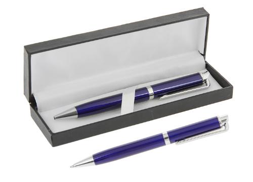 """Ручка шариковая в кожзам.футляре CALLIGRATA """"Экспрессо"""" 240552 синий корпус"""
