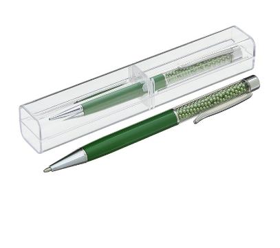"""Ручка шариковая в футляре CALLIGRATA """"Жемчуг"""" 1509126 зеленые бусины"""