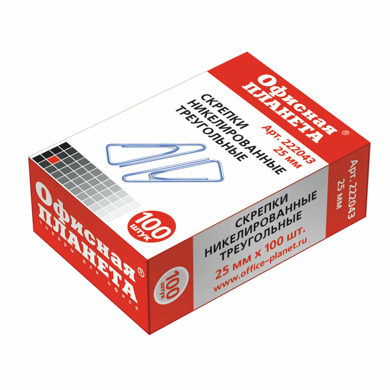 Скрепки 25мм*100 Offise Product треугольные