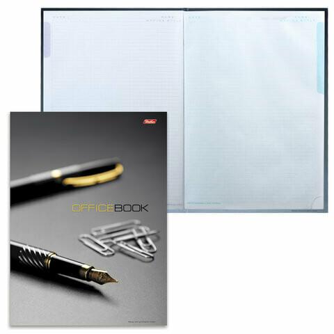 """Тетрадь 120л клетка А4 HATBER """"Office Book"""" тв.обл. 5цв.блок 124858"""