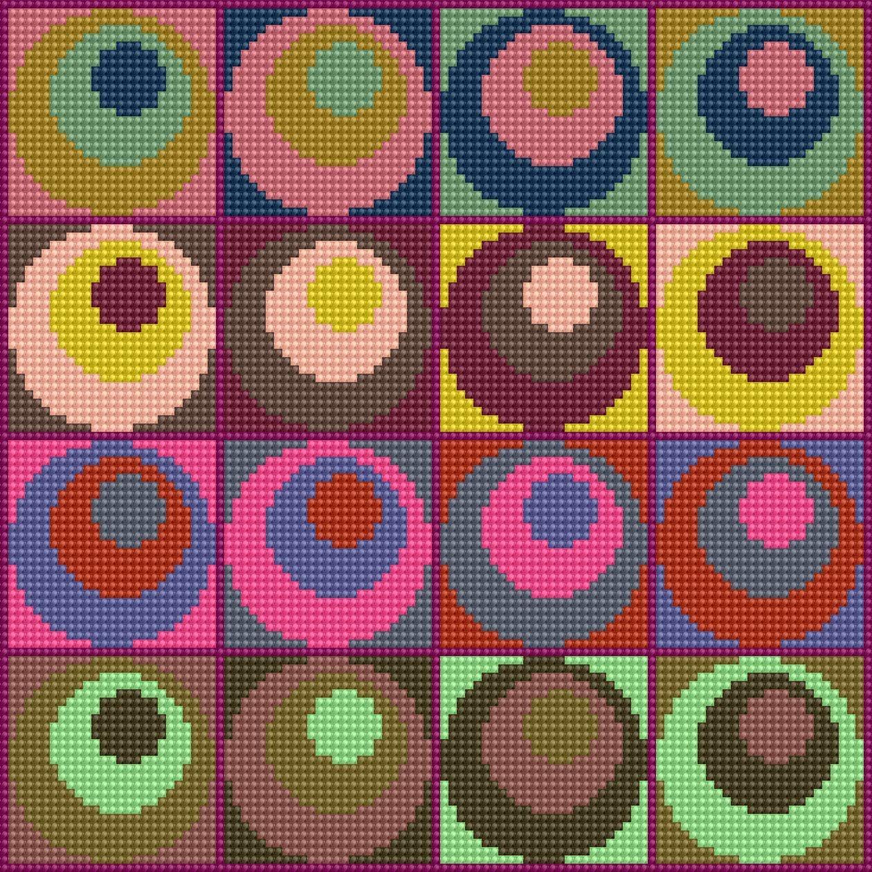 Use Your Stash - Spot Carpet - Stitch Chart