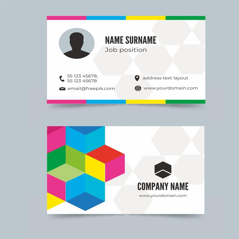 Двусторонние визитки цветные