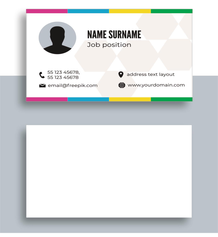 Односторонние визитки цветные, офсет