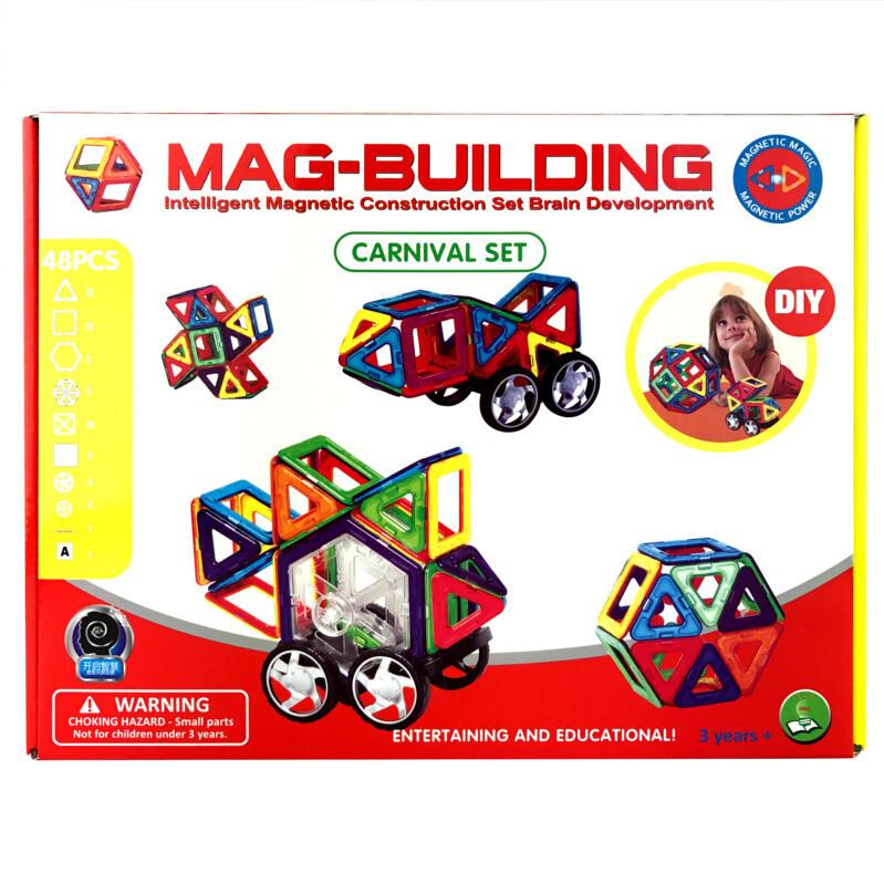 Магнитный конструктор Mag-Building, 48 деталей