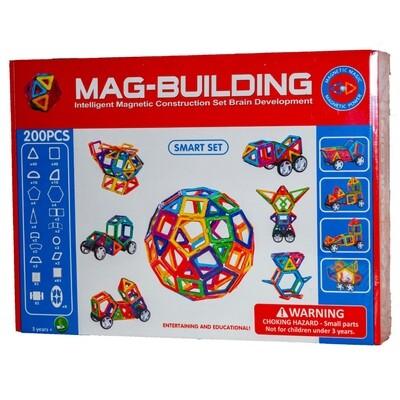 Магнитный конструктор Mag-Building, 200 деталей