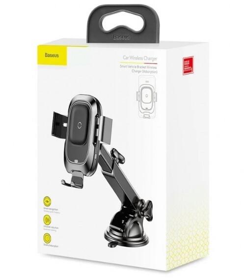Автомобильный держатель с беспроводной зарядкой Baseus WXZN-B01 Smart Vehicle Bracket Wireless Charger (Adsorption)