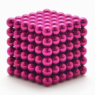Неокуб 5 мм 6x6x6=216 шт. розовый