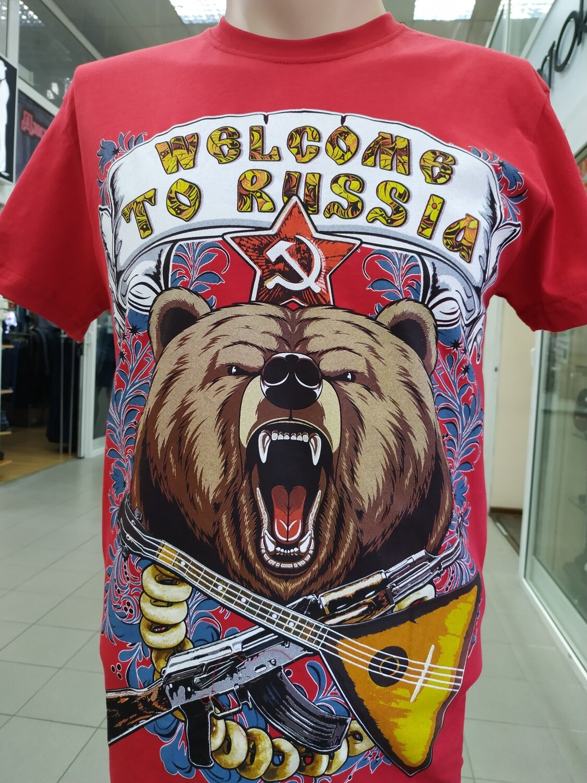 ФУТБОЛКА welcome to RUSSIA красная