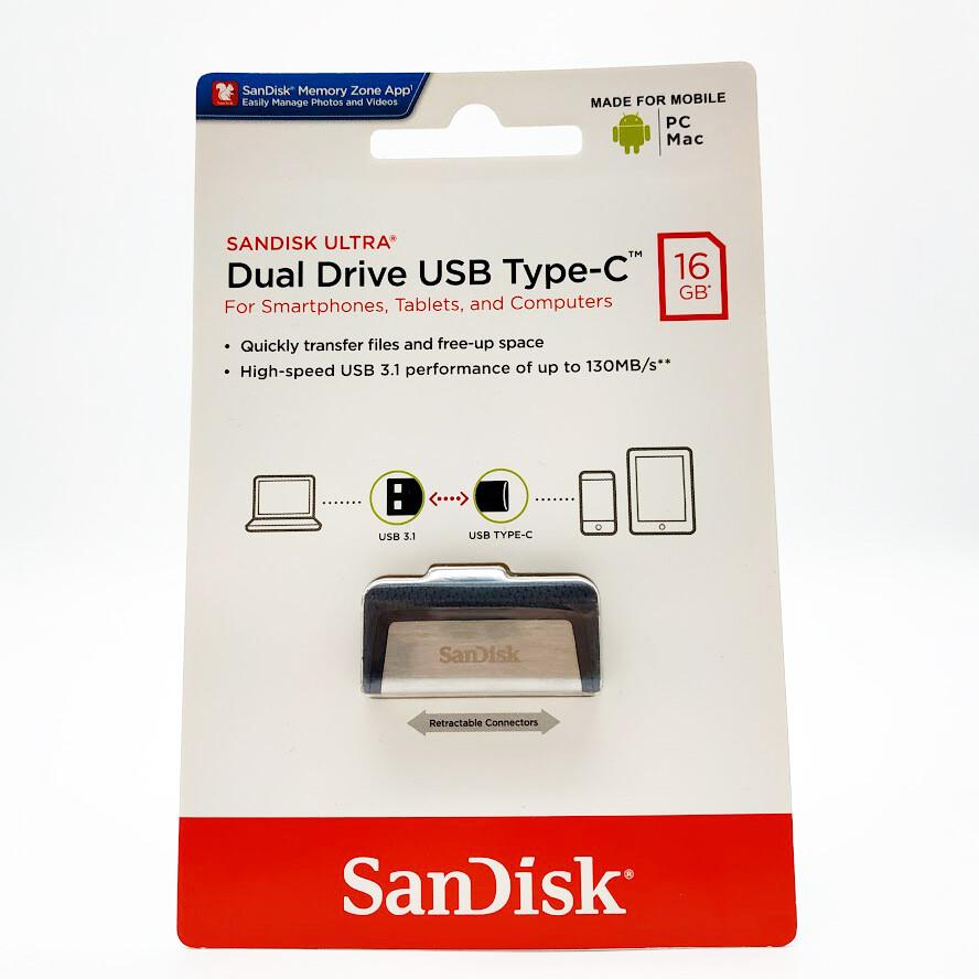 Флеш-накопитель SanDisk Flashdisk OTG Ultra Dual Drive USB Type-C