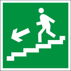 Наклейка Направление к эвакуационному выходу по лестнице вниз
