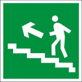 Наклейка Направление к эвакуационному выходу по лестнице вверх