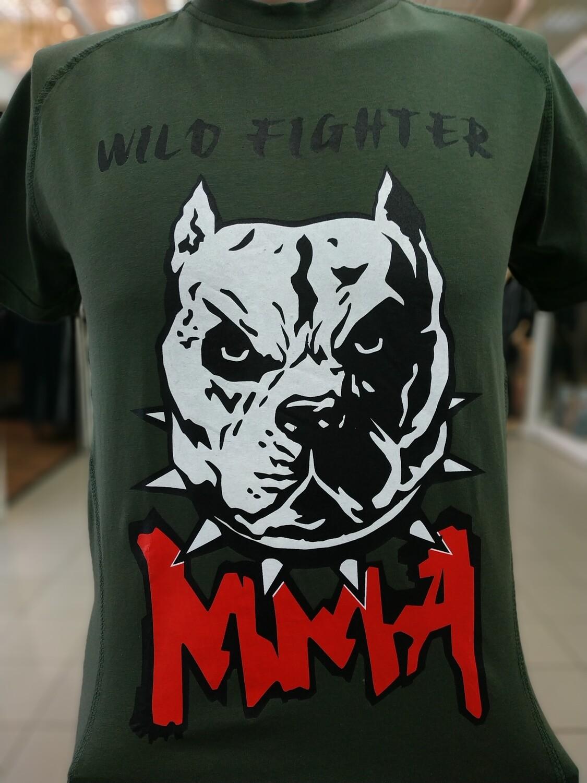 Футболка MMA WILD FIGHTER зелёная