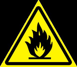 Наклейка Пожароопасно, легковоспламеняющиеся вещества