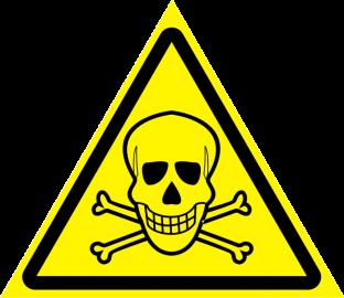 Наклейка Опасно, ядовитые вещества