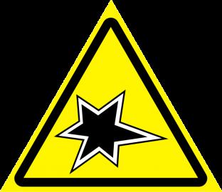 Наклейка Осторожно, газоопасные работы