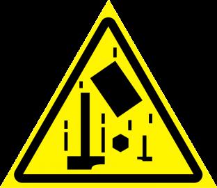 Наклейка Осторожно, падающие предметы