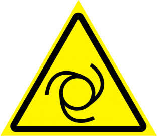 Наклейка Внимание, автоматическое включение (запуск) оборудования