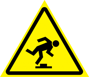 Наклейка Осторожно, малозаметное препятствие