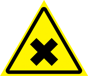 Наклейка Осторожно, вредные для здоровья аллергические (раздражающие) вещества