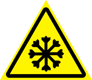 Наклейка Осторожно, холод