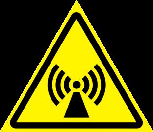Наклейка Внимание, электромагнитное поле