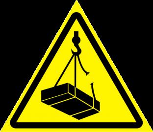 Наклейка Опасно, возможно падение груза