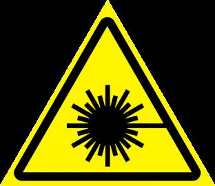 Наклейка Опасность, лазерное излучение
