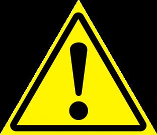 Наклейка Внимание, опасность