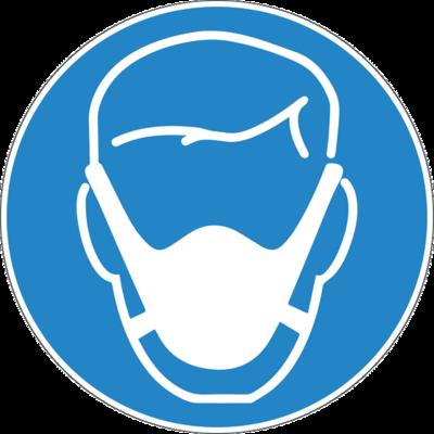 Наклейка Человек в медицинской маске
