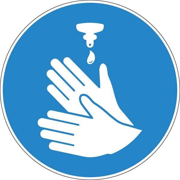 Наклейка Мойте руки
