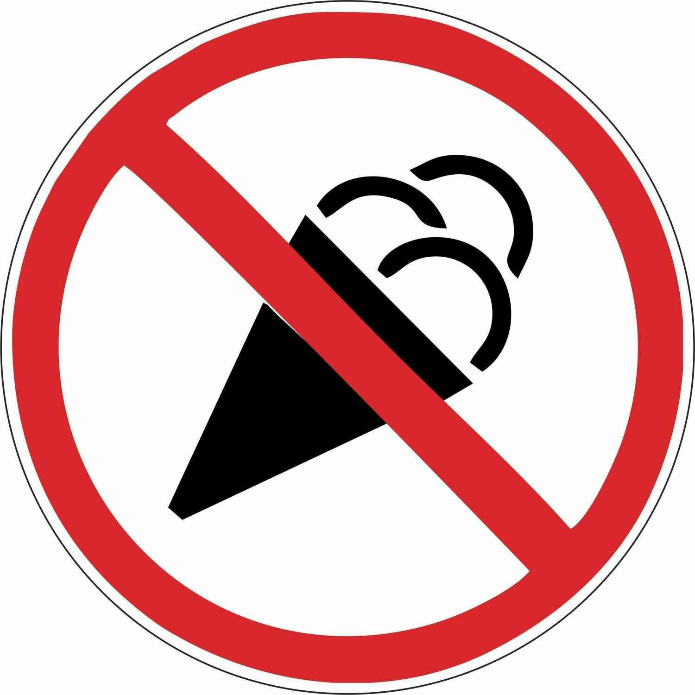 Наклейка Вход с мороженым запрещен