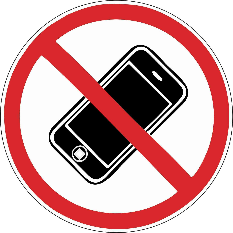 Наклейка Пользоваться мобильными телефонами запрещено