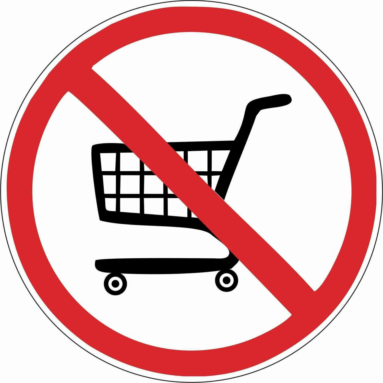 Наклейка Вход с тележками запрещен