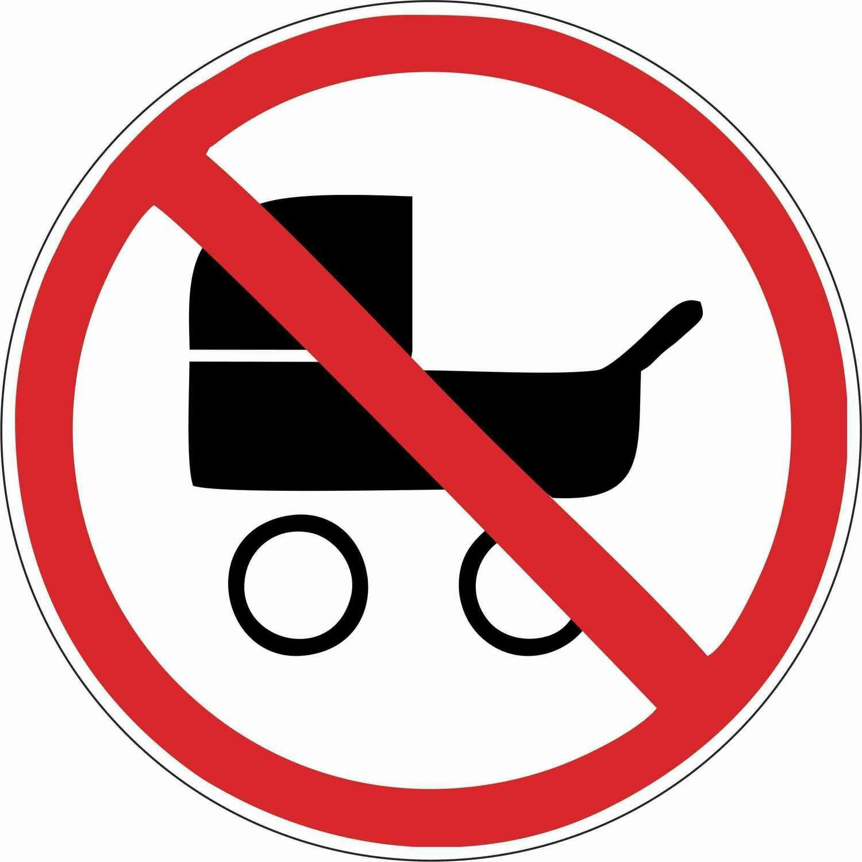 Наклейка Вход с колясками запрещен