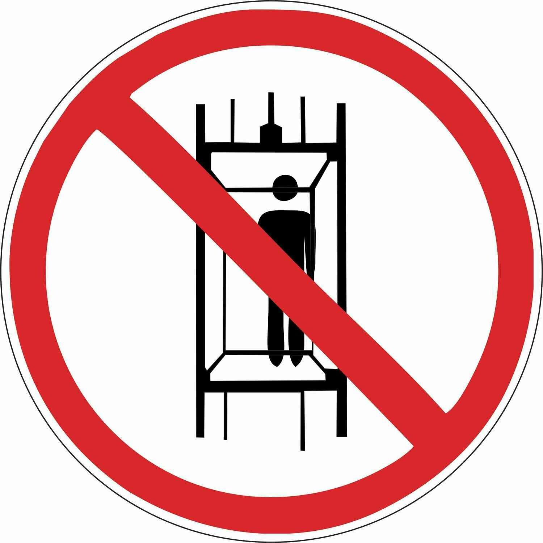 Наклейка Запрещается подъем (спуск) людей по шахтному стволу