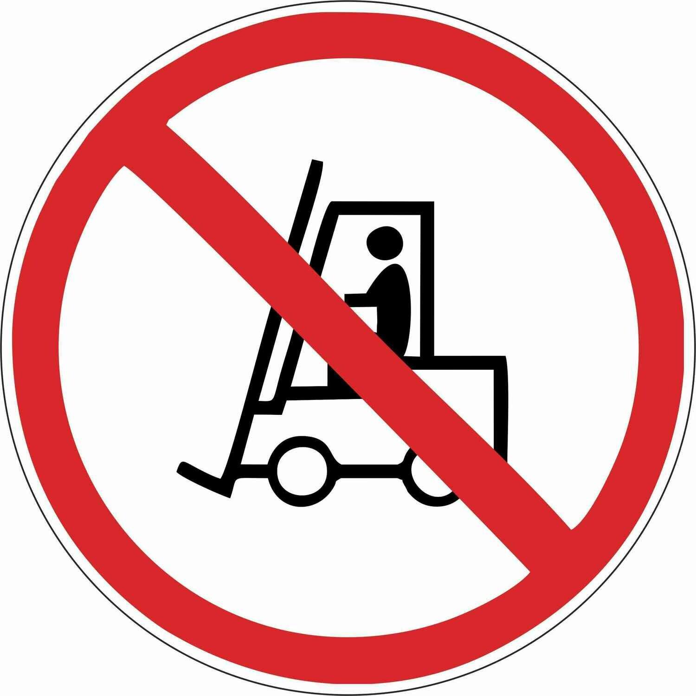 Наклейка Запрещается движение средств напольного транспорта