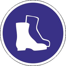 Наклейка Работать в защитной обуви