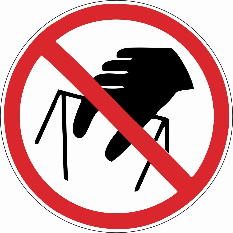 Наклейка Запрещается брать руками, сыпучая масса (непрочная упаковка)