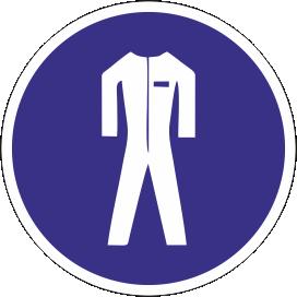 Наклейка Работать в защитной одежде