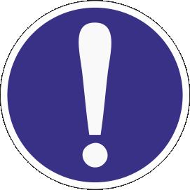 Наклейка Общий предписывающий знак (прочие предписания)