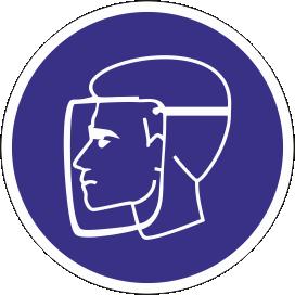Наклейка Работать в защитном щитке