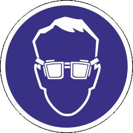 Наклейка Работать в защитных очках