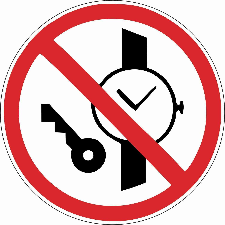 Наклейка Запрещается иметь при (на) себе металлические предметы