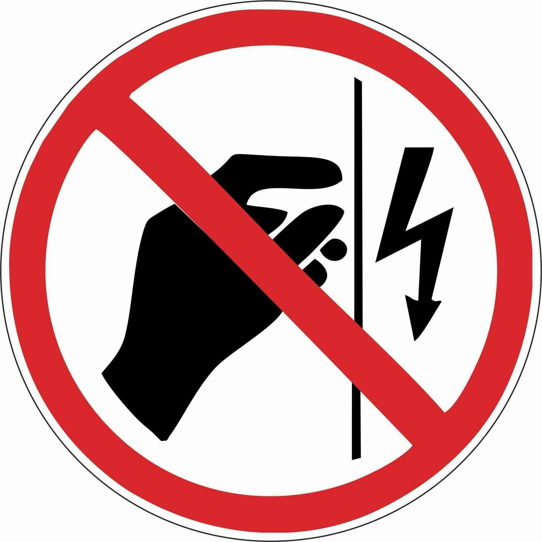 Наклейка Запрещается прикасаться, корпус под напряжением