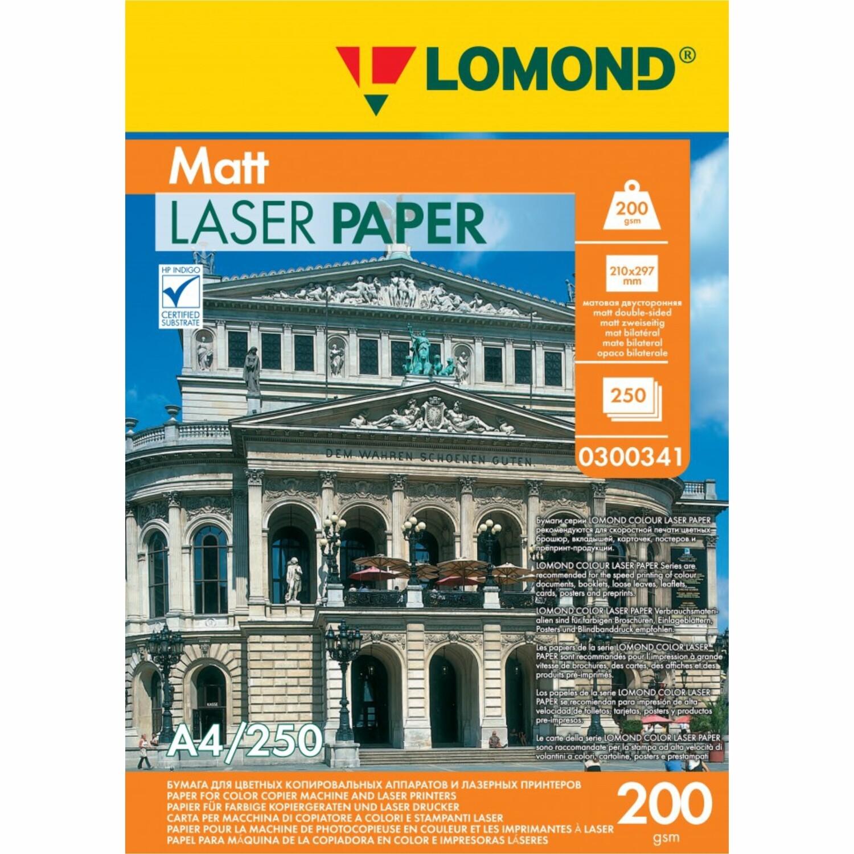 Матовая бумага - Lomond CLC Matt  - 200 г/м2, А4, 250 листов для лазерной печати 0300341
