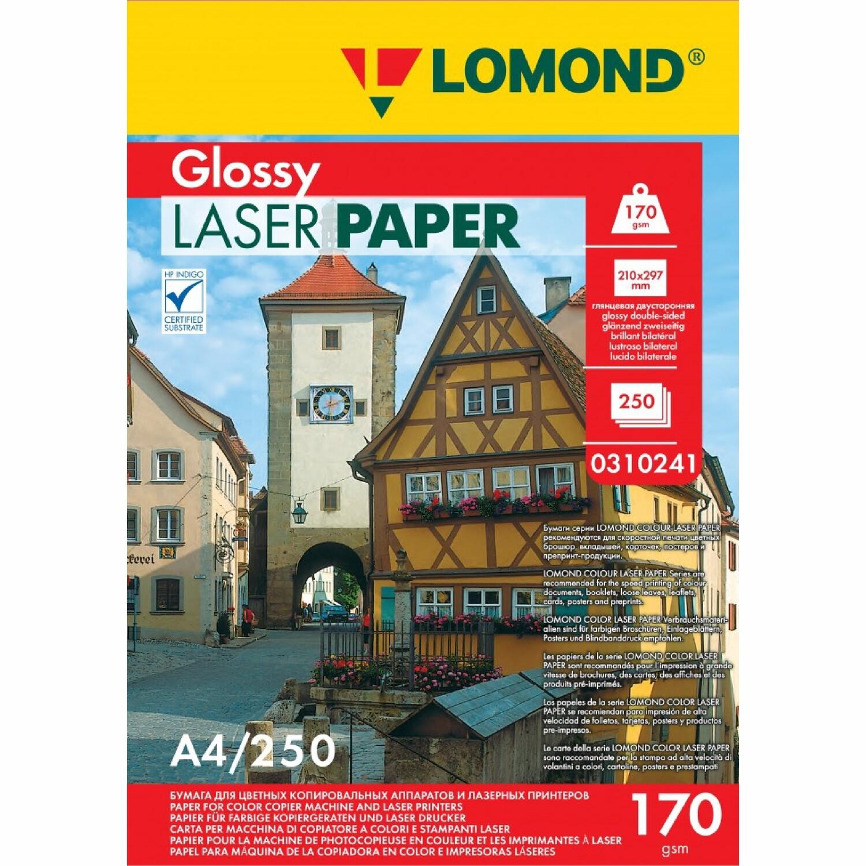 Глянцевая бумага - Lomond CLC Glossy - 170 г/м2, A4, 250 листов для лазерной печати 0310241