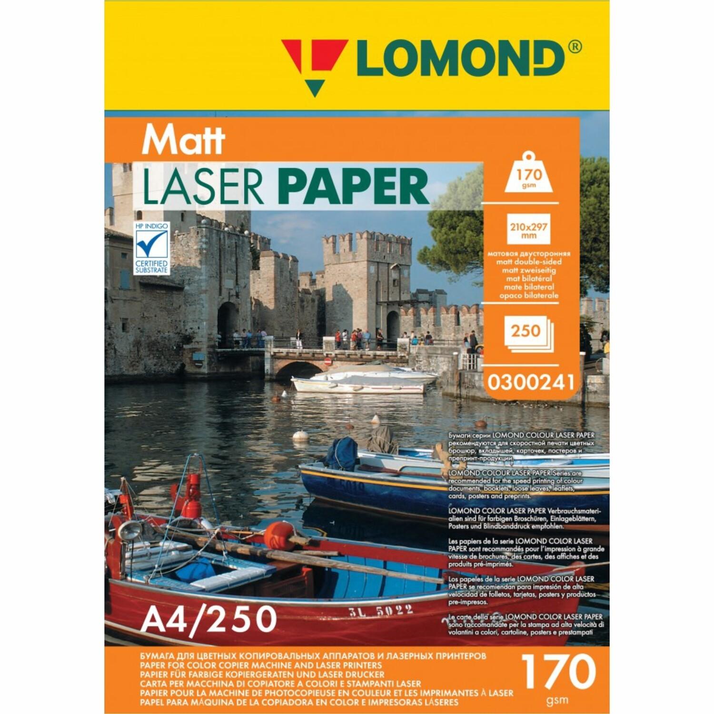 Матовая бумага - Lomond CLC Matt  - 170 г/м2, А4, 250 листов для лазерной печати 0300241