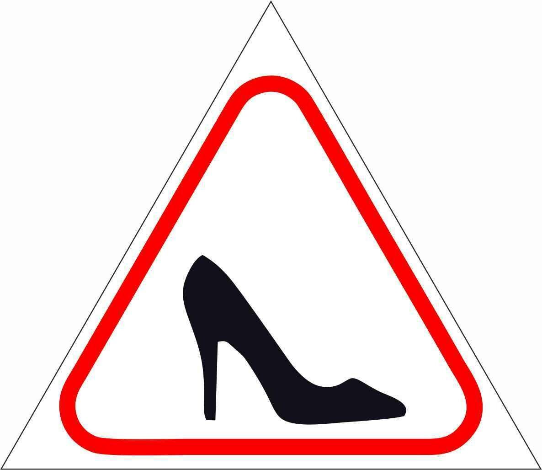 Наклейка Женщина за рулем
