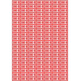 Наклейка Набор наклеек на розетки 380В, 140 шт., 30х15 мм.