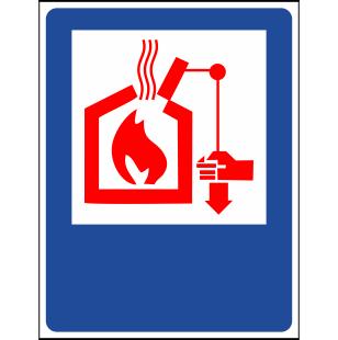 Наклейка Органы управления систем дымо- и теплоудаления